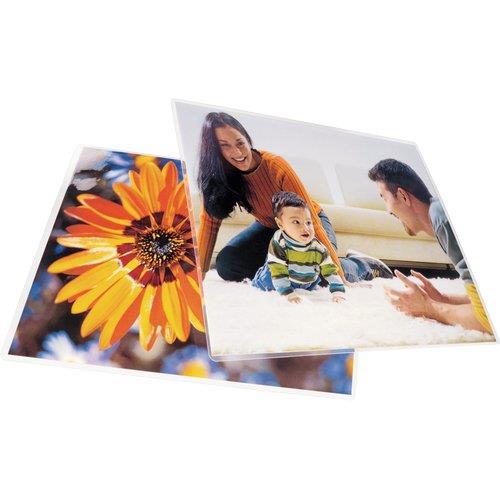Foto Pouches per plastificatrici GBC - A2 - 125 micron per lato - 50 pz