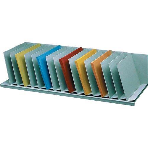 Foto Reggilibri con separatori fissi Paperflow - 80,2x31x20,6cm - grigio Smistamento posta
