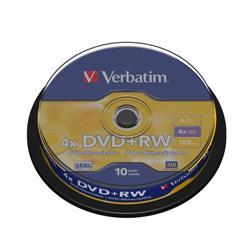 DVD+RW Spindle Verbatim - 4,7 Gb - 4x - conf. 10