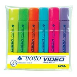 Evidenziatori Tratto Video - punta a scalpello - 1/5 mm - assortiti - conf. 6