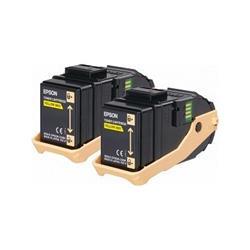 Foto Originale Epson C13S050606 - 2pz - Toner ACUBRITE 0602 - Giallo - 2pz Laser
