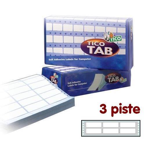 Foto Etichette a modulo continuo Tico 3 piste 72x23,5 mm conf. 18000 pezzi Etichette modulo continuo