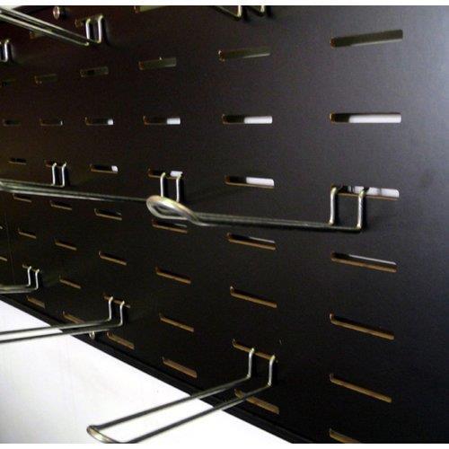 Foto Pannello attrezzato per fissaggio a muro Tecnostyl - 119x38 cm - nero Espositori e portadepliants