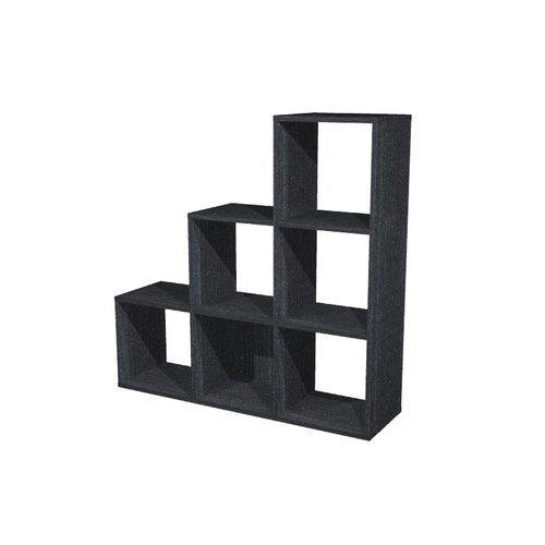 Foto Libreria Maxicube - scalare 6 caselle - 104,1x29,2x103,9 cm - nero Librerie componibili