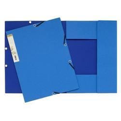 Cartelletta con elastico FOREVER® Exacompta - a 3 lembi - azzurro/blu