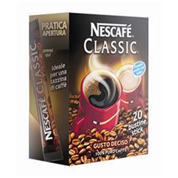 Caffè monodose solubile Nescafè - conf. da 20 stick monodose