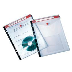 Busta rubricabile Click 'n File Jumbo Tecnostyl - bordo rosso e nero - conf. 5