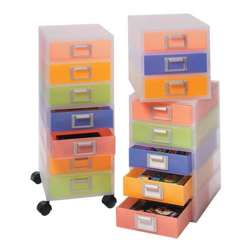 Foto Cassettiere multicolor Jolly Niji 5 cassetti senza ruote 26x34x44 cm Cassettiere da scrivania