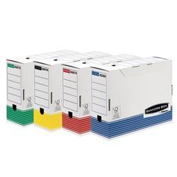 Foto Scatole archivio colorate System Fellowes-26x32 cm-dorso 10 cm-12pz