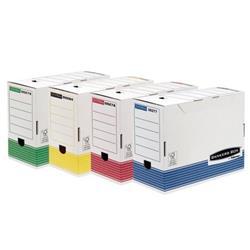 Foto Scatole archivio colorate System Fellowes-26x32 cm-dorso 15 cm-12pz