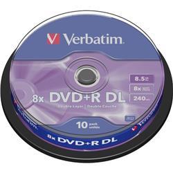 DVD+R Spindle Verbatim - 8,5 Gb - DL - 8x - conf. 10