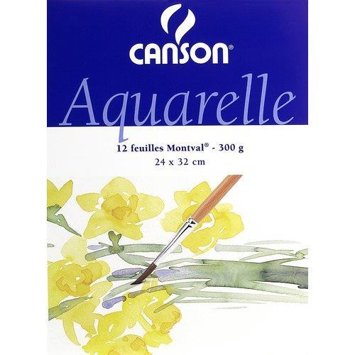 Foto Linea Acquerello Montval Canson blocco 24x32 cm 200 g/mq Album da disegno