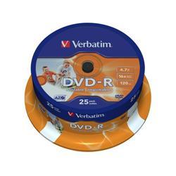 DVD-R wide photo stampabile Spindle Verbatim - 4,7 Gb - 16x - conf. 25