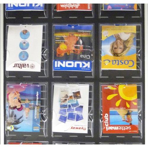 Foto Vaschetta brochure in PS A4-26x4,5x33,5cm Tecnostyl-trasparente 3pz Espositori e portadepliants