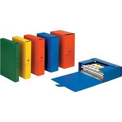 Scatola portaprogetti Eurobox Esselte - dorso 8 - 25x35 cm - blu