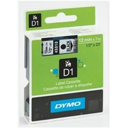 Nastro Dymo D1 - 12 mm x 7 m - nero/trasparente