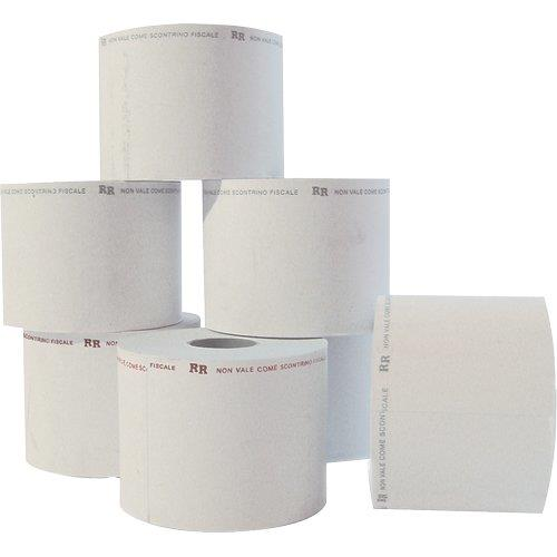 Foto Rotoli bilancia Rotomar-5.7cm 38m Ø85mm-carta termica adesiva-24pz Carta in rotoli per fax e POS