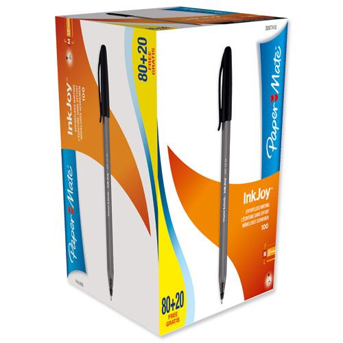 Foto Penne Papermate InkJoy 100 nero 1 mm (conf. 80+20 gratis) Penne a sfera