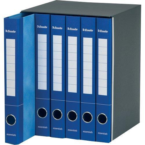 Foto Gruppi di 6 classificatori Essentials Esselte a 2 anelli blu Gruppi di classificatori