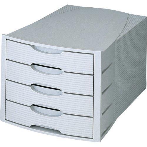 Foto Cassettiera Monitor HAN grigio 4 cassetti Cassettiere da scrivania