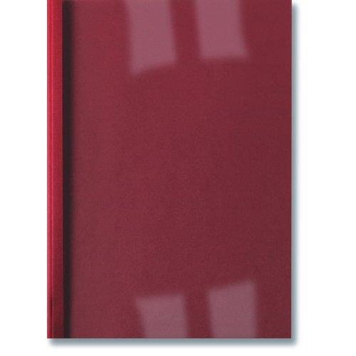 Foto Cartelline termiche GBC-Goffrate-50 Fogli-trasp/rosso-100pz