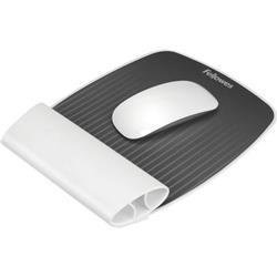 I-spire series mousepad c/poggiapolsi oscillante - grigio fellowes - bianco - 9314802