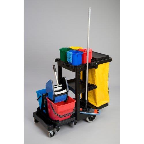 Foto Carrello di pulizia Janitor Cart Rubbermaid - 117x55x98 cm - 75 lt Carrelli pulizia e accessori