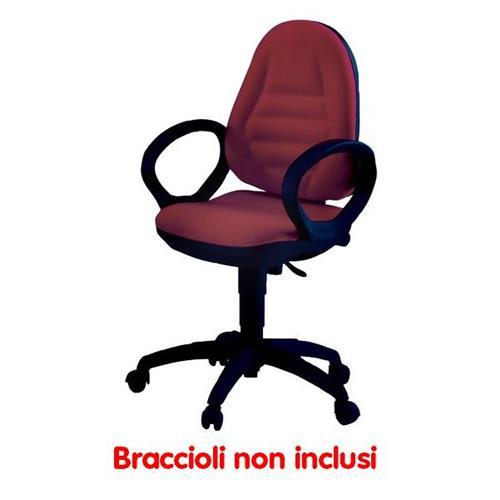 Foto Sedia operativa ergonomica Metis Unisit - rosso - MTAS/MR Sedie operative