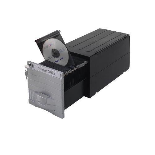 Foto Schedari modulari MediaSolutions 160 Exponent - 35x17x17,3 cm - 160 CD Porta CD e DVD
