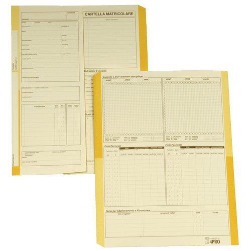 Foto Cartelline matricolari impiegati 4company semplici-32,5x25,5cm 50pz Cartelline in cartoncino