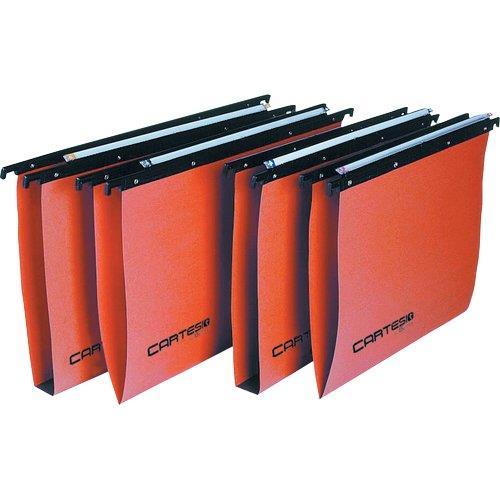 Foto Cartelle sospese Linea Cartesio cassetto 33÷33,8cm U3 arancio 50pz Cartelle sospese per cassetto
