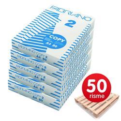 Carta A4 Copy 2 Fabriano - Carta A4 offerta - 80 g/mq - 50 Risme
