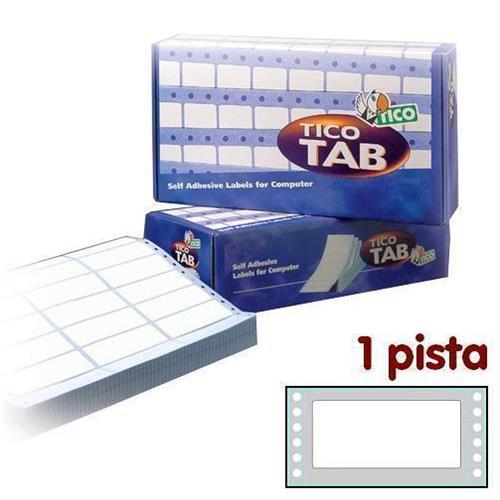 Foto Etichette a modulo continuo Tico 1 pista 107x48,9 mm conf. 3000 pezzi Etichette modulo continuo