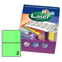 Foto Etichette Copy Laser Tico 200x142 mm 2 et/ff 140 pezzi Etichette fluorescenti