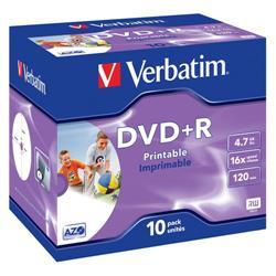DVD+R Jewel case stampabili Photo Verbatim - 4,7 Gb - 16x