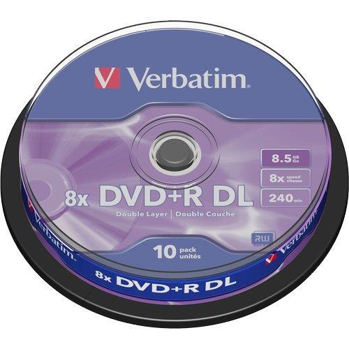 Foto DVD+R Spindle Verbatim - 8,5 Gb - DL - 8x - conf. 10 DVD R