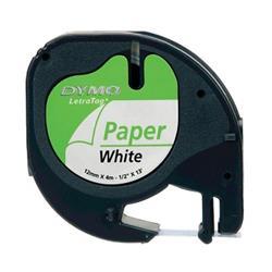 Nastro per Letratag Dymo - carta bianca