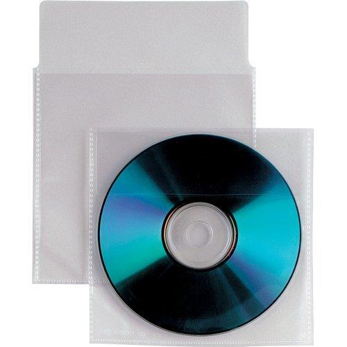 Foto Buste trasparenti CD/DVD Insert-patella e striscia adesiva-500pz Custodie CD e DVD