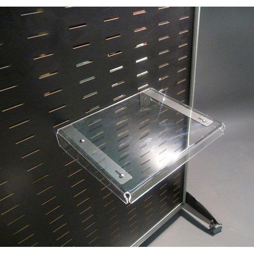 Foto Mensola piccola in acrilico Tecnostyl - 29x7x36 cm - trasparente Espositori e portadepliants