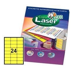 Foto Etichette Copy Laser Premium giallo 70x36 mm 24 et/ff 1680 pz Etichette fluorescenti