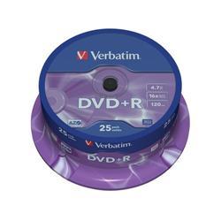 DVD+R Spindle Verbatim - 4,7 Gb - 16x - conf. 25