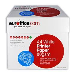 Carta A4 Euroffice - 80 g/mq - per stampe e copie - 5 risme