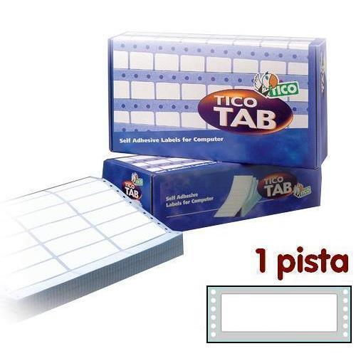 Foto Etichette a modulo continuo Tico 1 pista 149x48,9 mm conf. 3000 pezzi Etichette modulo continuo