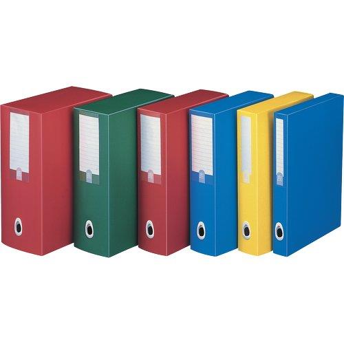 Foto Scatole progetto Plus Leonardi-dorso 12-25,5x35,5cm-azzurro-5pz Scatole portaprogetti in plastica