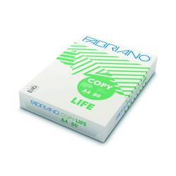 Copy Life Fabriano ecologica - carta riciclata, altissimo punto di bianco - carta A4 offerta 80g/mq  - 5 risme