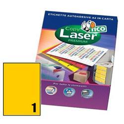 Foto Etichette Copy Laser Premium A4 1 et/ff conf. 70 pz Etichette fluorescenti
