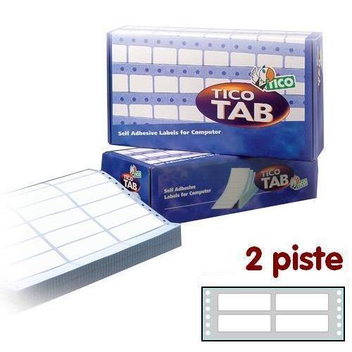 Foto Etichette a modulo continuo Tico 2 piste 72x23,5 mm conf. 12000 pezzi Etichette modulo continuo