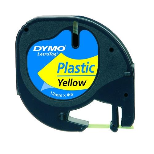 Nastro per letratag dymo - plastica giallo.