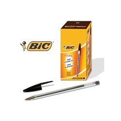 Penna a sfera Cristal® Bic - Medium - nero - tratto 1 mm - conf. 50