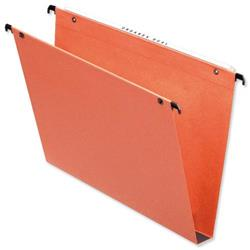 Esselte Orgarex Suspension File Kraft Square Base 30mm Capacity A4 Orange Ref 10103 A4 [Pack 25]